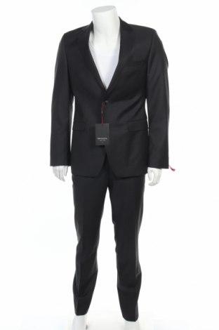 Мъжки костюм Benvenuto, Размер M, Цвят Черен, Вълна, Цена 121,77лв.