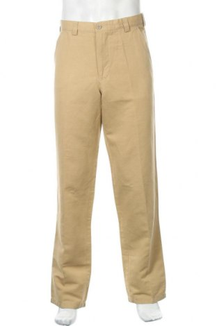 Мъжки панталон Armani Jeans, Размер L, Цвят Бежов, 65% памук, 35% други материали, Цена 34,00лв.
