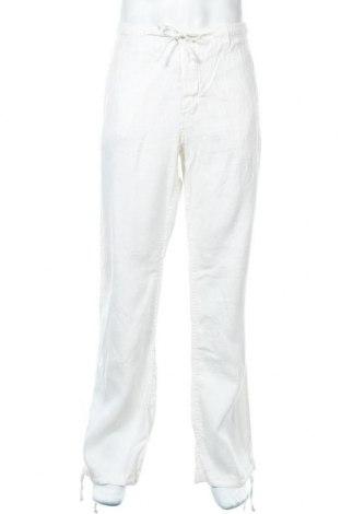 Мъжки панталон H&M L.O.G.G., Размер XL, Цвят Бял, Цена 20,53лв.
