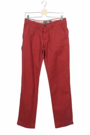 Мъжки панталон H&M L.O.G.G., Размер S, Цвят Червен, Цена 15,59лв.
