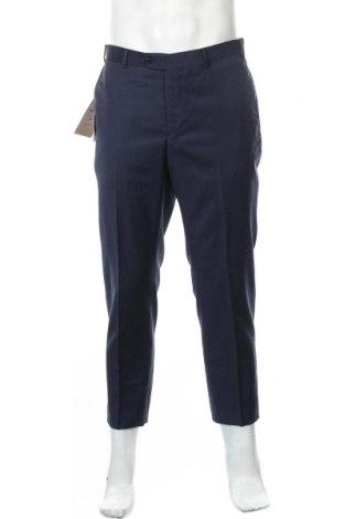 Pantaloni de bărbați Massimo Dutti, Mărime M, Culoare Albastru, Lână, Preț 51,17 Lei
