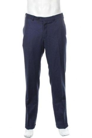 Ανδρικό παντελόνι Massimo Dutti, Μέγεθος M, Χρώμα Μπλέ, Μαλλί, Τιμή 15,29€
