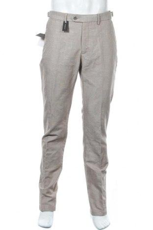 Pánské kalhoty  Massimo Dutti, Velikost L, Barva Béžová, 73% bavlna, 27% len, Cena  458,00Kč