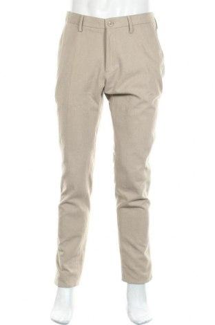 Мъжки панталон Massimo Dutti, Размер L, Цвят Бежов, Памук, Цена 36,12лв.