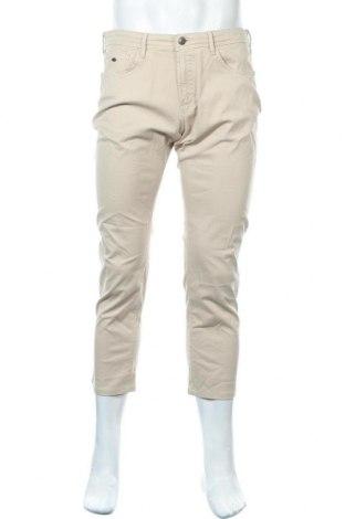 Pantaloni de bărbați Massimo Dutti, Mărime L, Culoare Bej, 96% bumbac, 4% elastan, Preț 63,10 Lei