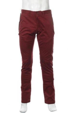 Мъжки панталон Teddy Smith, Размер M, Цвят Червен, 97% памук, 3% еластан, Цена 44,50лв.