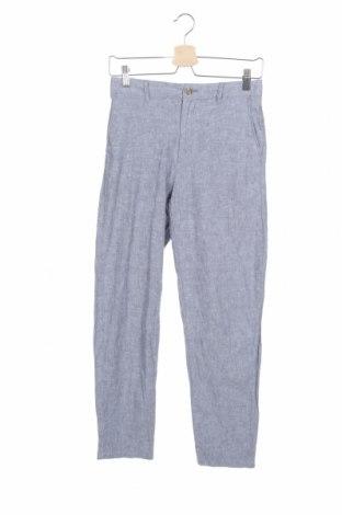 Мъжки панталон Uniqlo, Размер XS, Цвят Син, 52% лен, 48% памук, Цена 26,93лв.