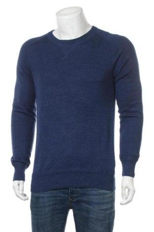 Мъжки пуловер H&M L.O.G.G., Размер M, Цвят Син, 100% памук, Цена 20,79лв.