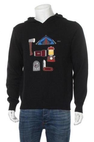Мъжки пуловер SUN68, Размер XL, Цвят Черен, 50% вълна, 50% памук, Цена 59,15лв.