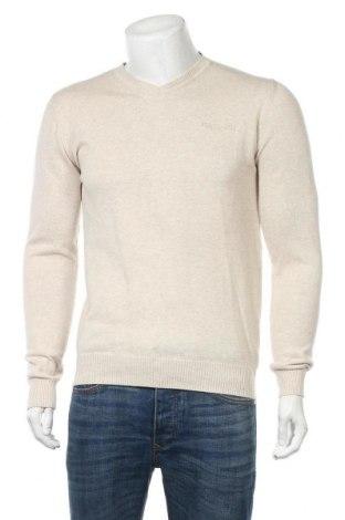 Мъжки пуловер Teddy Smith, Размер M, Цвят Бежов, Памук, Цена 26,22лв.