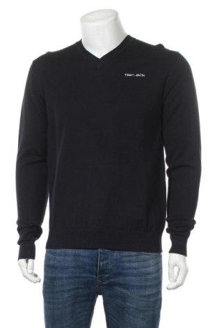 Мъжки пуловер Teddy Smith, Размер M, Цвят Син, Памук, Цена 27,60лв.