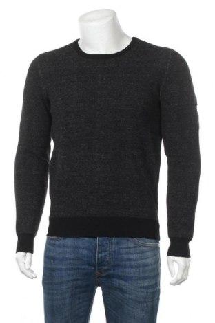 Мъжки пуловер Teddy Smith, Размер M, Цвят Черен, 53% полиестер, 35% вискоза, 12% полиамид, Цена 31,60лв.