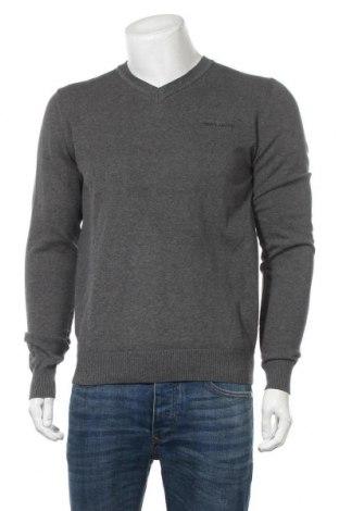 Мъжки пуловер Teddy Smith, Размер M, Цвят Сив, Памук, Цена 27,60лв.