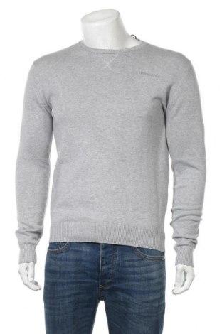 Мъжки пуловер Teddy Smith, Размер M, Цвят Сив, Памук, Цена 26,22лв.