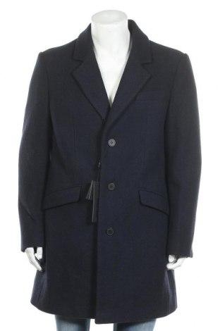 Ανδρικά παλτό Antony Morato, Μέγεθος XL, Χρώμα Μπλέ, 53% πολυεστέρας, 41% μαλλί, 3% πολυαμίδη, 3%ακρυλικό, Τιμή 63,28€
