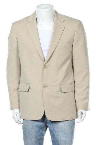 Мъжко сако, Размер L, Цвят Бежов, 85% полиестер, 15% полиамид, Цена 3,00лв.