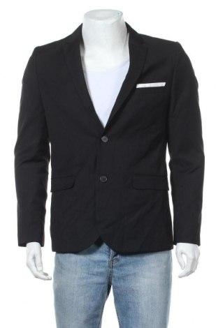 Pánské sako  H&M, Velikost L, Barva Černá, 65% polyester, 27% viskóza, 3% elastan, Cena  333,00Kč