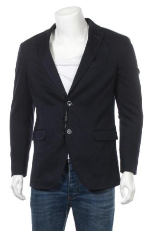 Ανδρικό σακάκι Massimo Dutti, Μέγεθος L, Χρώμα Μπλέ, Βαμβάκι, Τιμή 24,36€