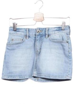 Пола H&M L.O.G.G., Размер XS, Цвят Син, 99% памук, 1% еластан, Цена 15,75лв.