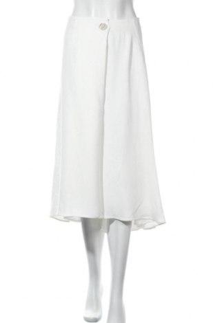 Пола Massimo Dutti, Размер M, Цвят Бял, 67% ацетат, 33% вискоза, Цена 42,57лв.