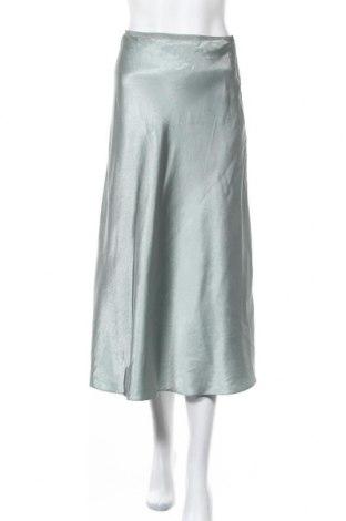 Φούστα Massimo Dutti, Μέγεθος S, Χρώμα Πράσινο, Ασετάτ, Τιμή 24,16€