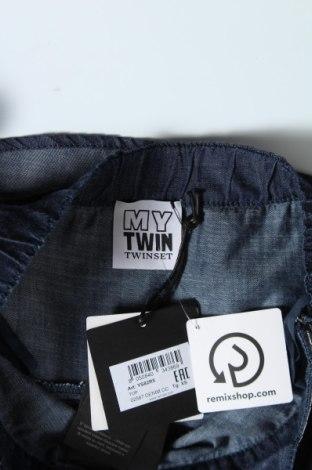 Пола TWINSET, Размер XS, Цвят Син, 55% памук, 45% лиосел, Цена 20,67лв.