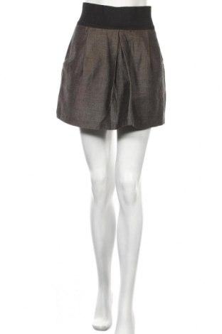 Пола Zara, Размер XS, Цвят Сив, 63% памук, 37% лен, Цена 10,47лв.