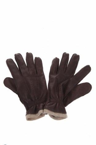 Γάντια Massimo Dutti, Χρώμα Καφέ, Γνήσιο δέρμα, Τιμή 15,16€
