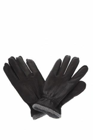 Γάντια Massimo Dutti, Χρώμα Μαύρο, Γνήσιο δέρμα, Τιμή 17,43€