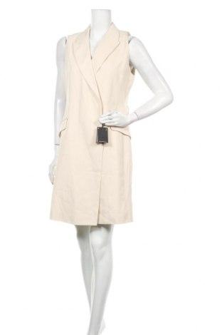 Рокля Massimo Dutti, Размер L, Цвят Бежов, Вискоза, Цена 55,77лв.