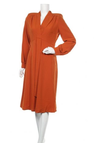 Рокля Sandro Ferrone, Размер L, Цвят Оранжев, 77% полиестер, 17% вискоза, 6% еластан, Цена 62,37лв.