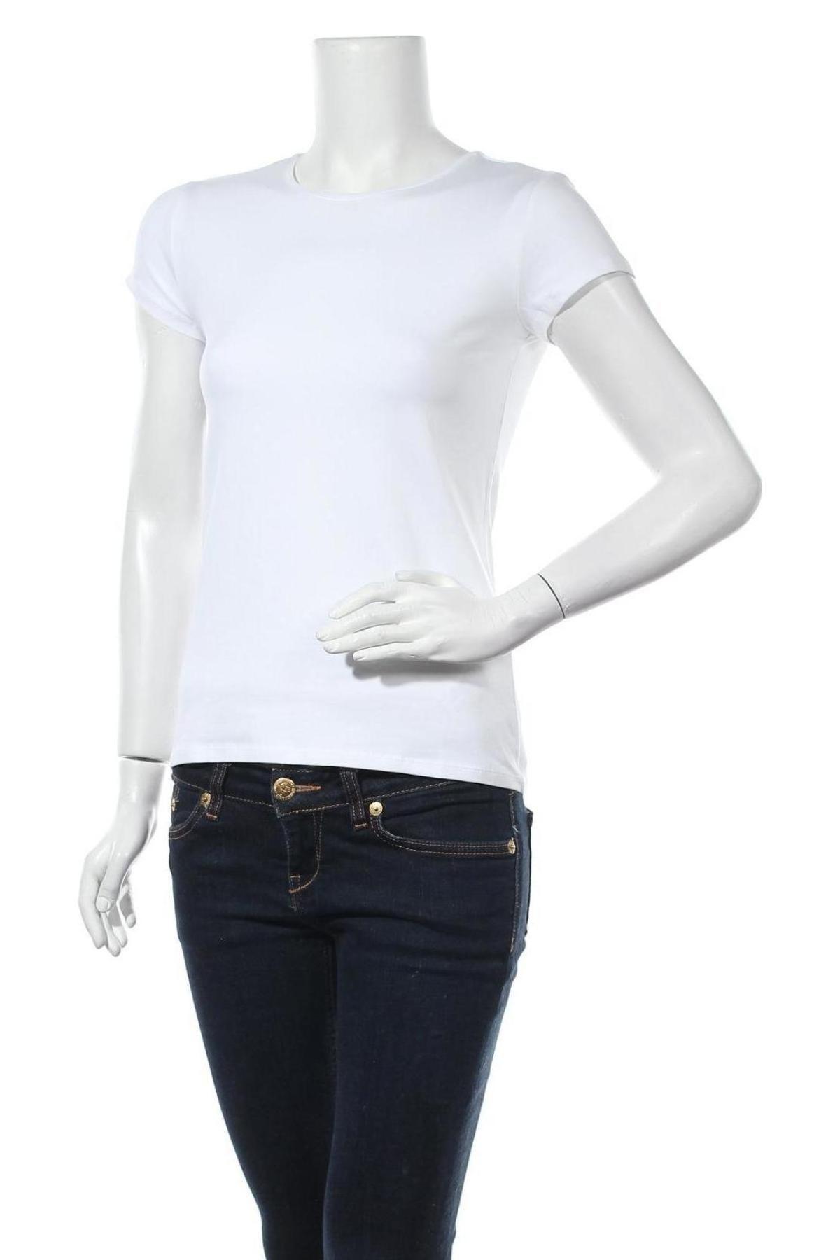 Дамска тениска Massimo Dutti, Размер M, Цвят Бял, 92% памук, 8% еластан, Цена 20,65лв.