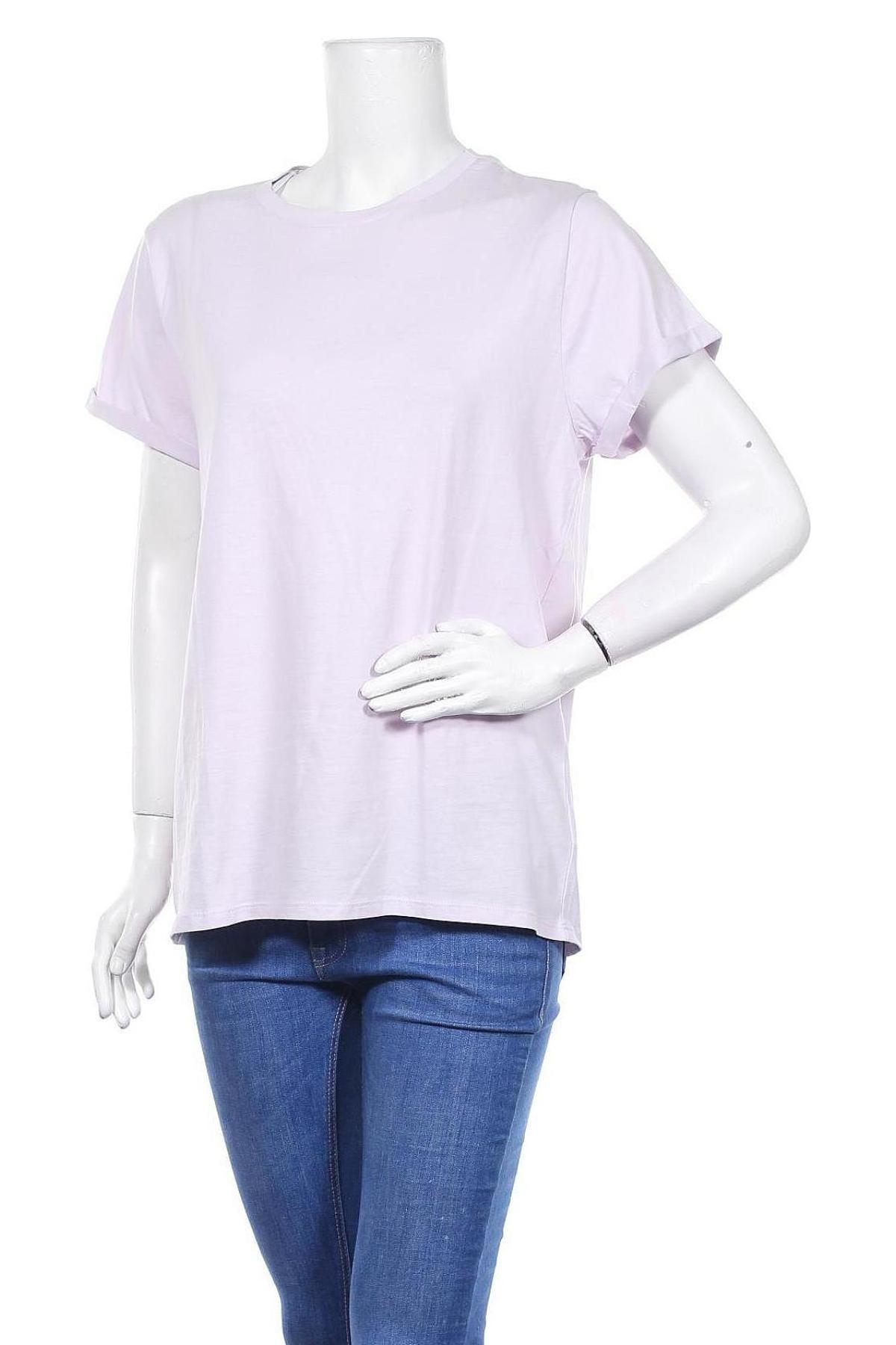 Дамска тениска United Colors Of Benetton, Размер L, Цвят Лилав, Памук, Цена 21,45лв.