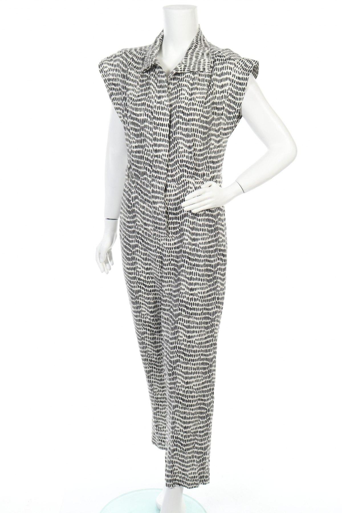 Γυναικεία σαλοπέτα Massimo Dutti, Μέγεθος S, Χρώμα Λευκό, 67% βισκόζη, 33% λινό, Τιμή 40,98€