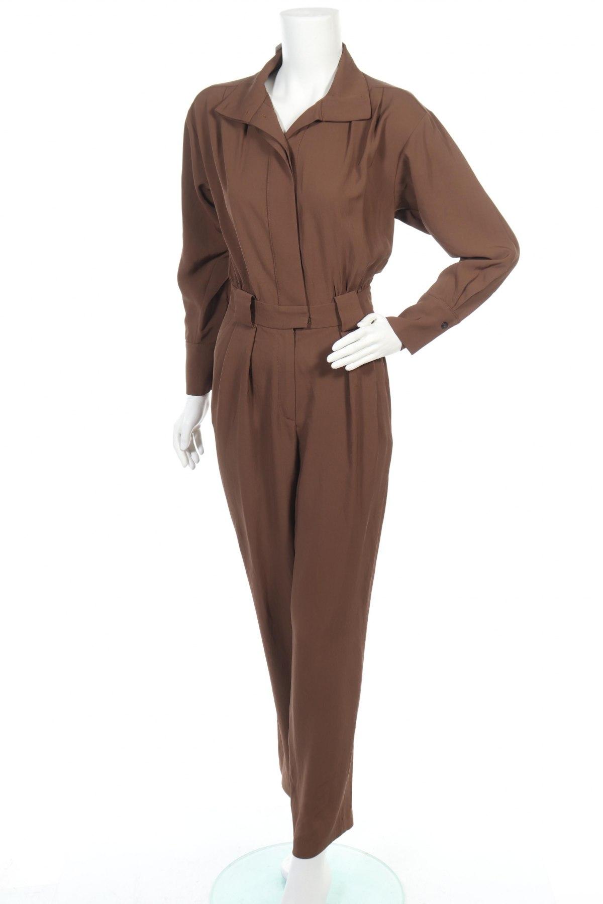 Γυναικεία σαλοπέτα Massimo Dutti, Μέγεθος XS, Χρώμα Καφέ, Ασετάτ, Τιμή 35,41€