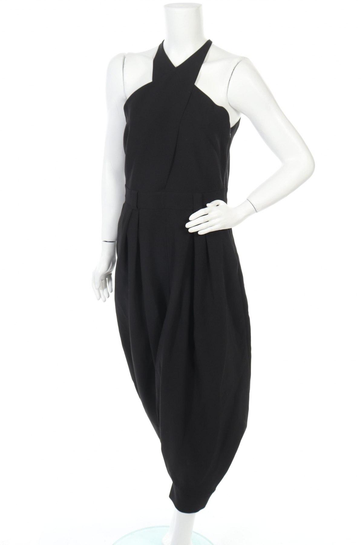 Γυναικεία σαλοπέτα Massimo Dutti, Μέγεθος M, Χρώμα Μαύρο, 92% πολυεστέρας, 8% ελαστάνη, Τιμή 25,96€