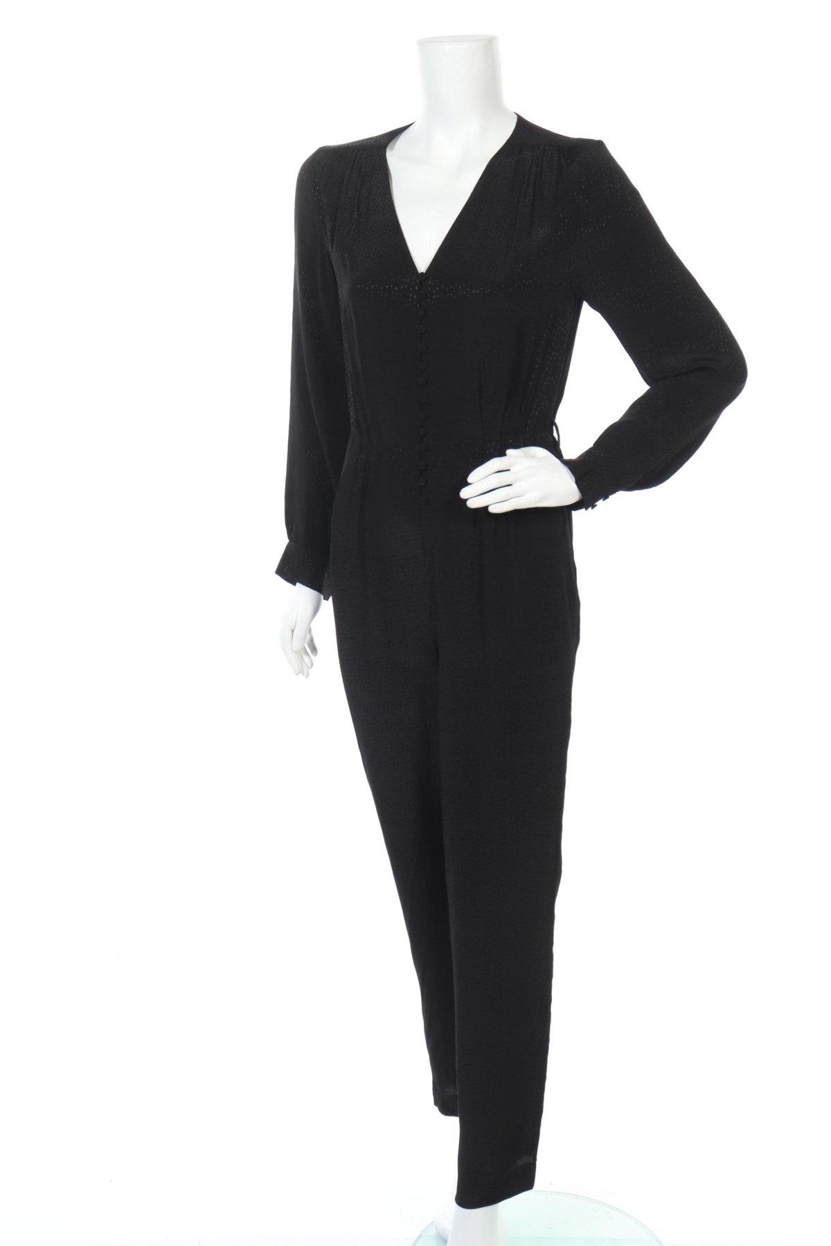 Γυναικεία σαλοπέτα Massimo Dutti, Μέγεθος S, Χρώμα Μαύρο, 100% βισκόζη, Τιμή 21,50€