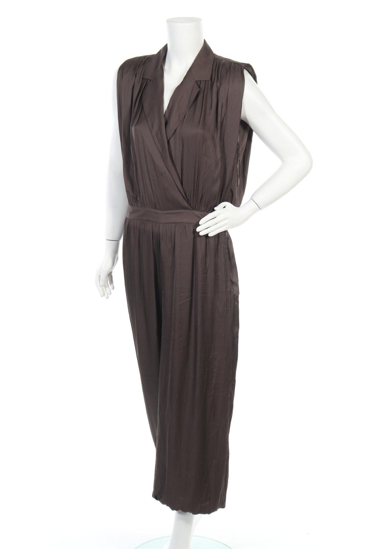 Γυναικεία σαλοπέτα Massimo Dutti, Μέγεθος L, Χρώμα Γκρί, Βισκόζη, Τιμή 46,17€