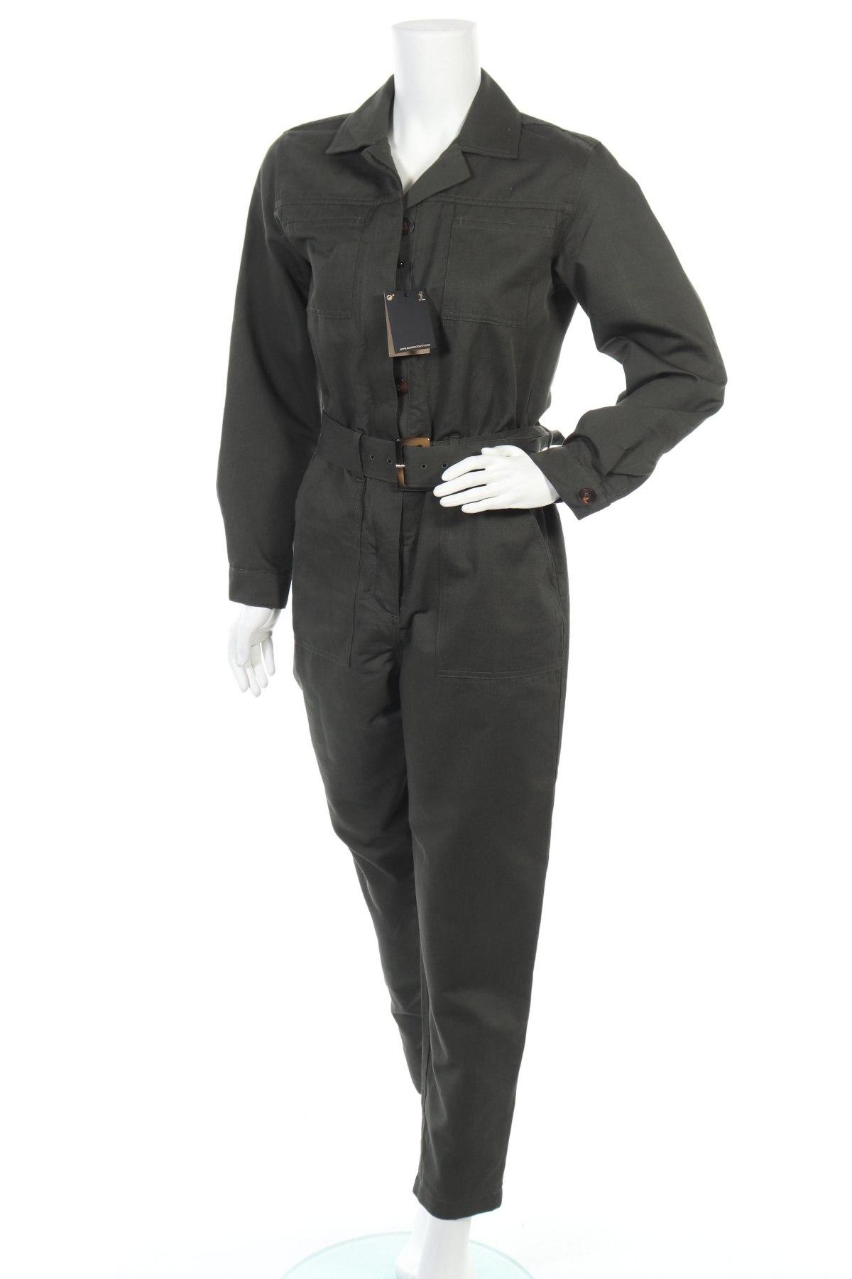 Γυναικεία σαλοπέτα Massimo Dutti, Μέγεθος M, Χρώμα Πράσινο, 74% βαμβάκι, 26% λινό, Τιμή 38,40€