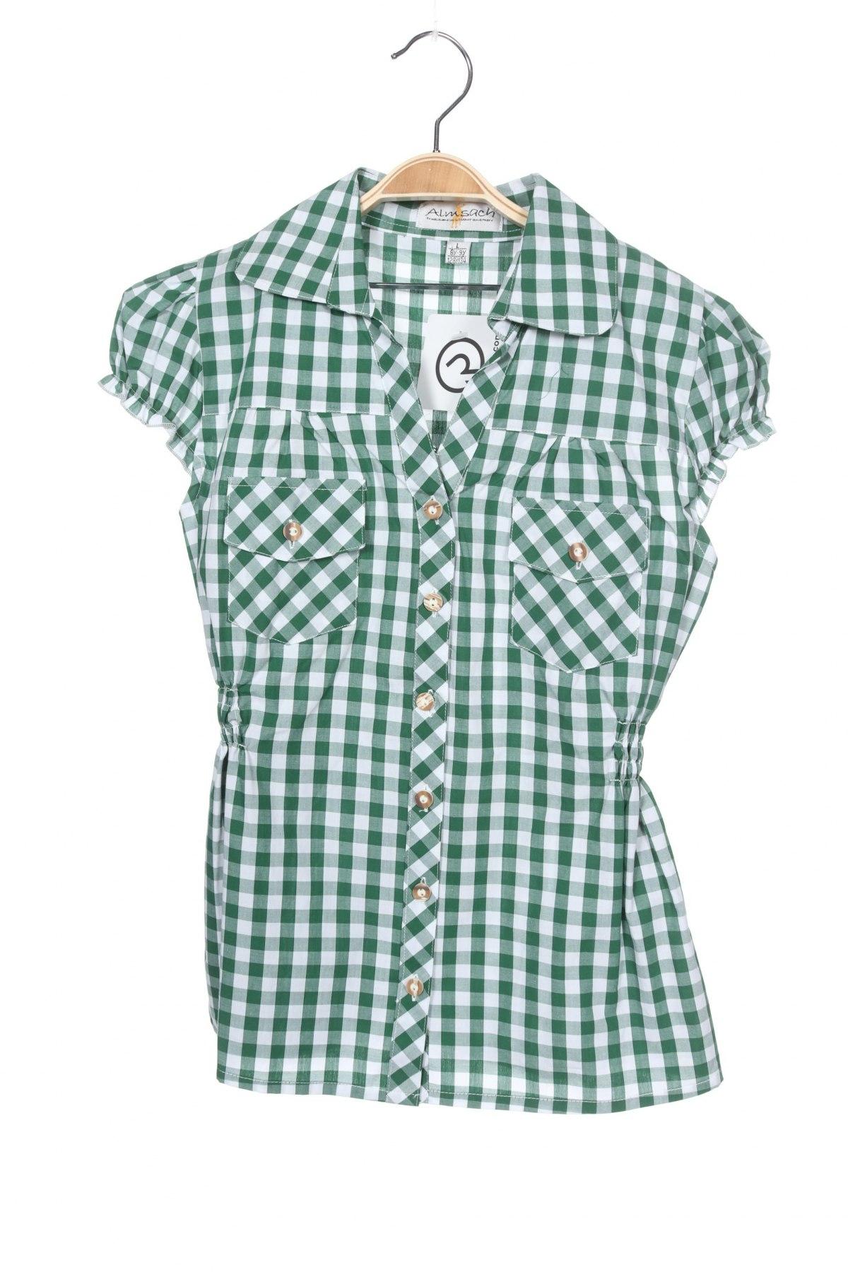 Παιδικό πουκάμισο Almsach, Μέγεθος 7-8y/ 128-134 εκ., Χρώμα Πράσινο, Βαμβάκι, Τιμή 5,26€