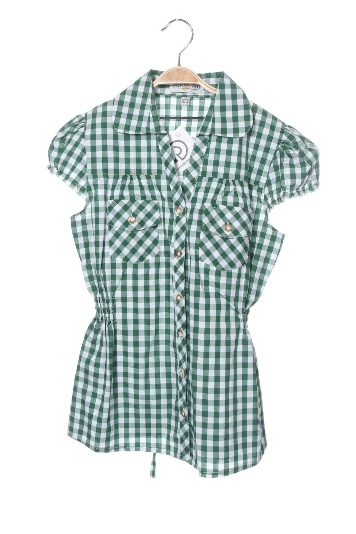 Παιδικό πουκάμισο Almsach, Μέγεθος 9-10y/ 140-146 εκ., Χρώμα Πράσινο, Βαμβάκι, Τιμή 5,26€