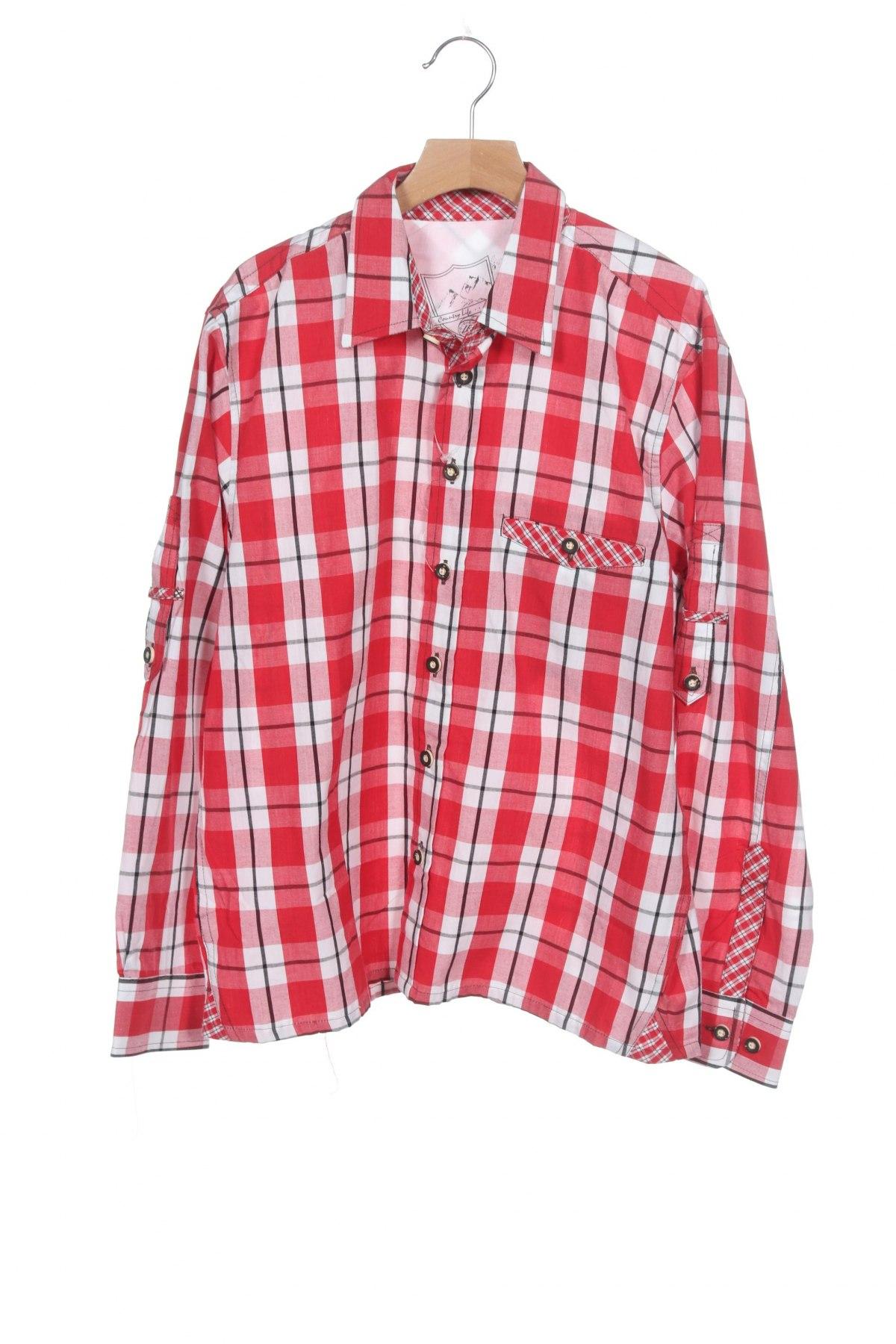 Παιδικό πουκάμισο Lekra, Μέγεθος 12-13y/ 158-164 εκ., Χρώμα Κόκκινο, Βαμβάκι, Τιμή 7,05€