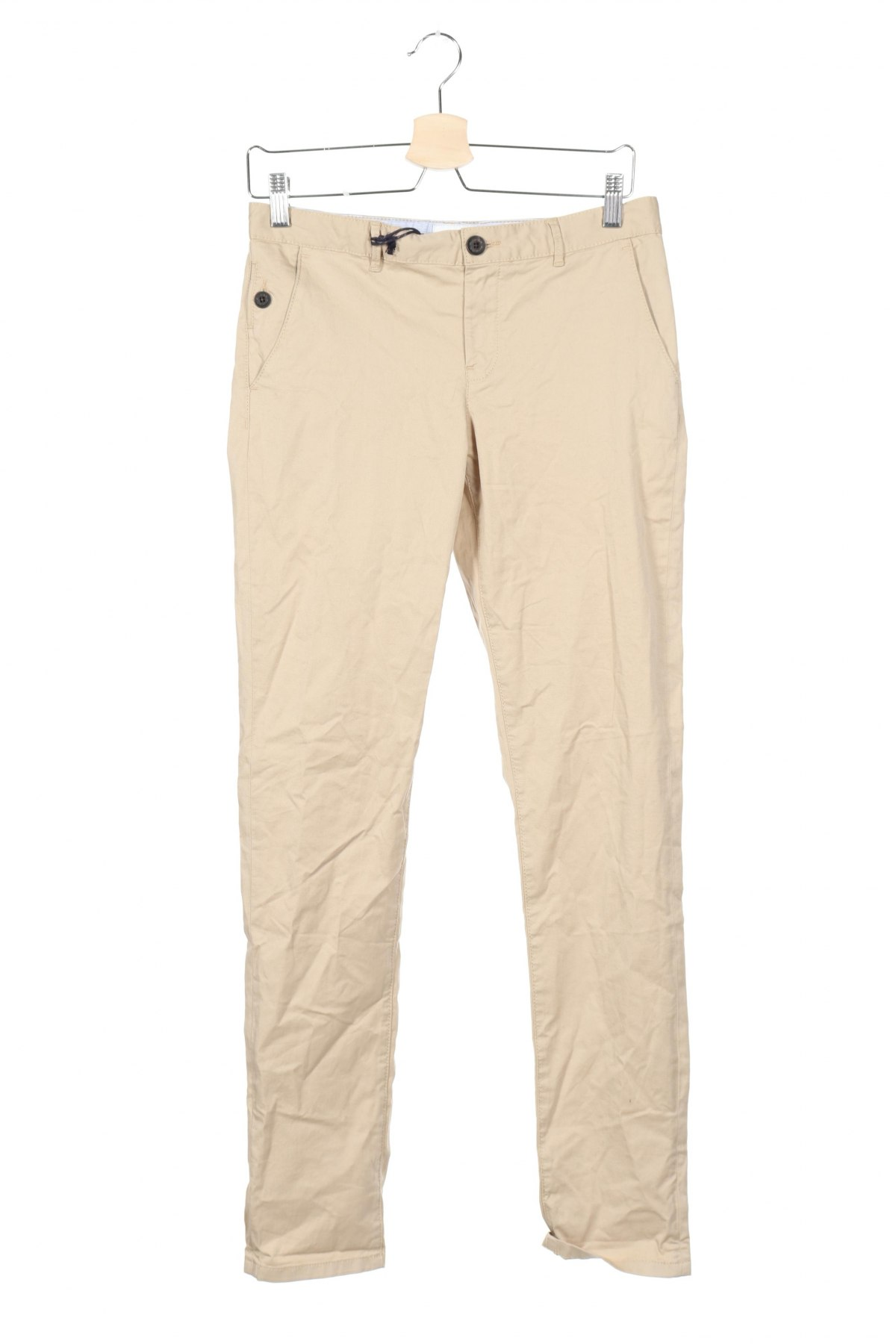 Παιδικό παντελόνι Massimo Dutti, Μέγεθος 13-14y/ 164-168 εκ., Χρώμα  Μπέζ, 97% βαμβάκι, 3% ελαστάνη, Τιμή 13,52€