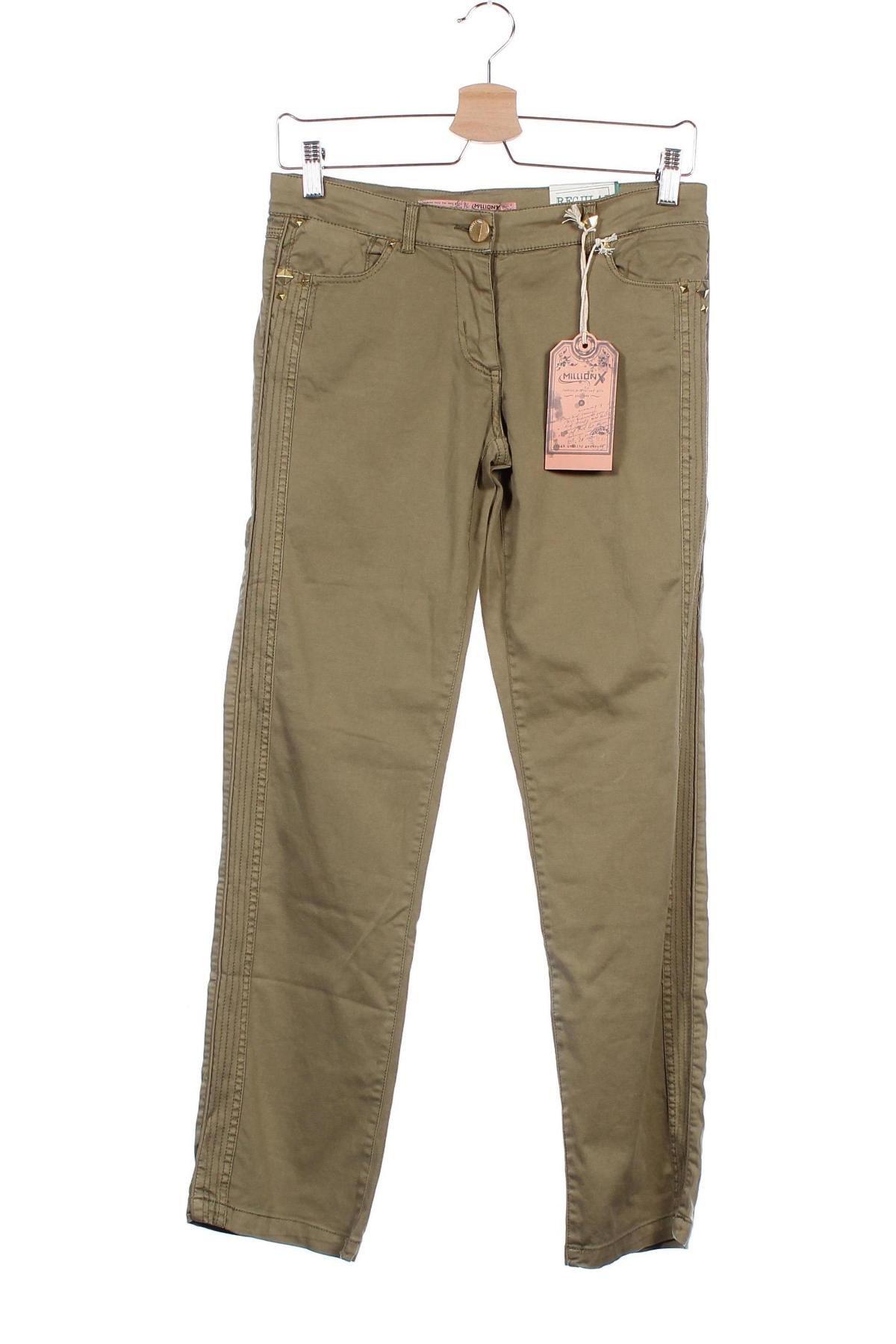 Παιδικό παντελόνι Million X, Μέγεθος 12-13y/ 158-164 εκ., Χρώμα Πράσινο, 98% βαμβάκι, 2% ελαστάνη, Τιμή 11,74€