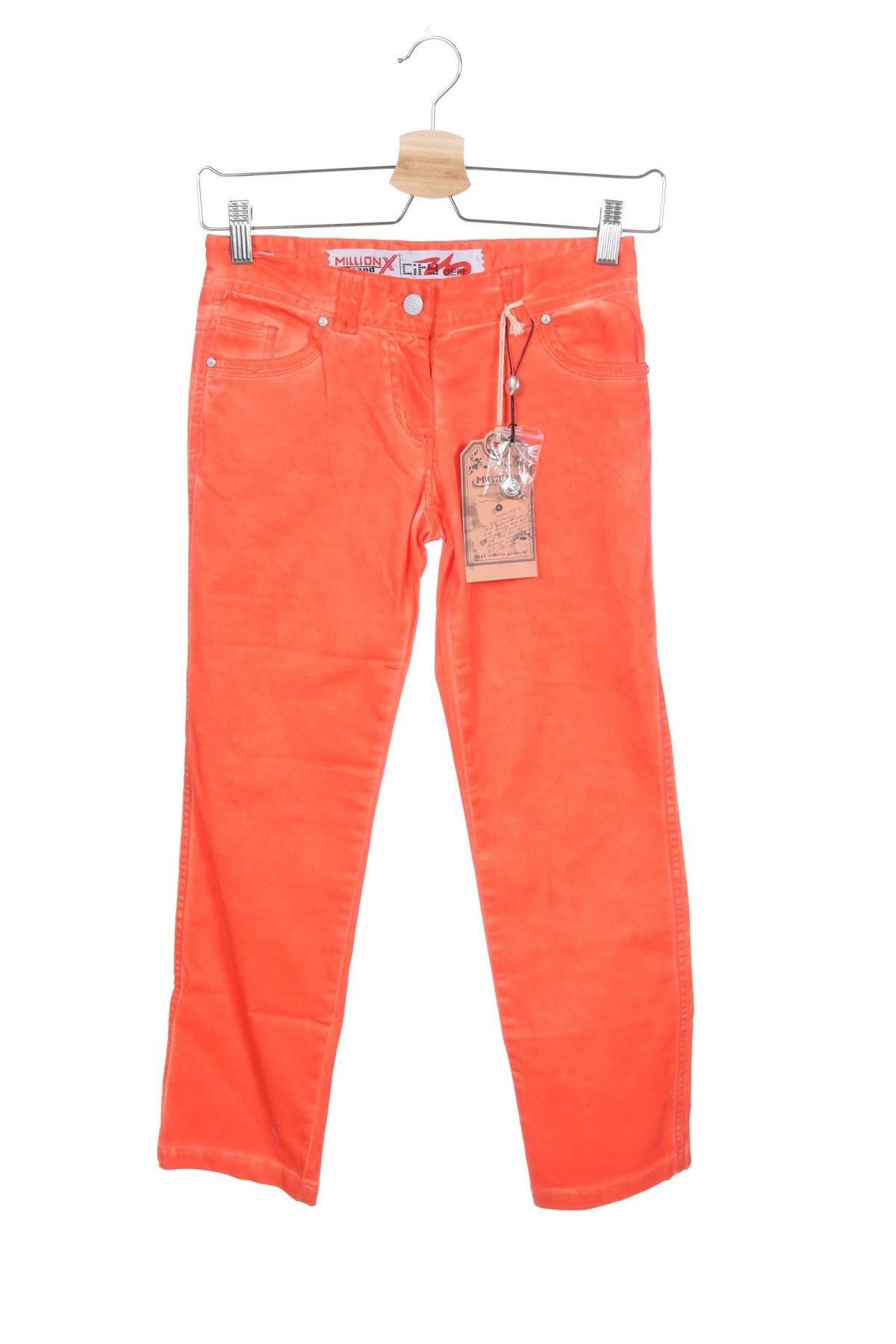 Παιδικό παντελόνι Million X, Μέγεθος 9-10y/ 140-146 εκ., Χρώμα Πορτοκαλί, 98% βαμβάκι, 2% ελαστάνη, Τιμή 7,07€