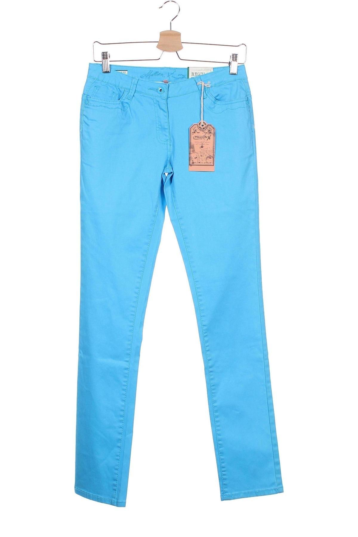 Παιδικό παντελόνι Million X, Μέγεθος 15-18y/ 170-176 εκ., Χρώμα Μπλέ, 97% βαμβάκι, 3% ελαστάνη, Τιμή 10,04€