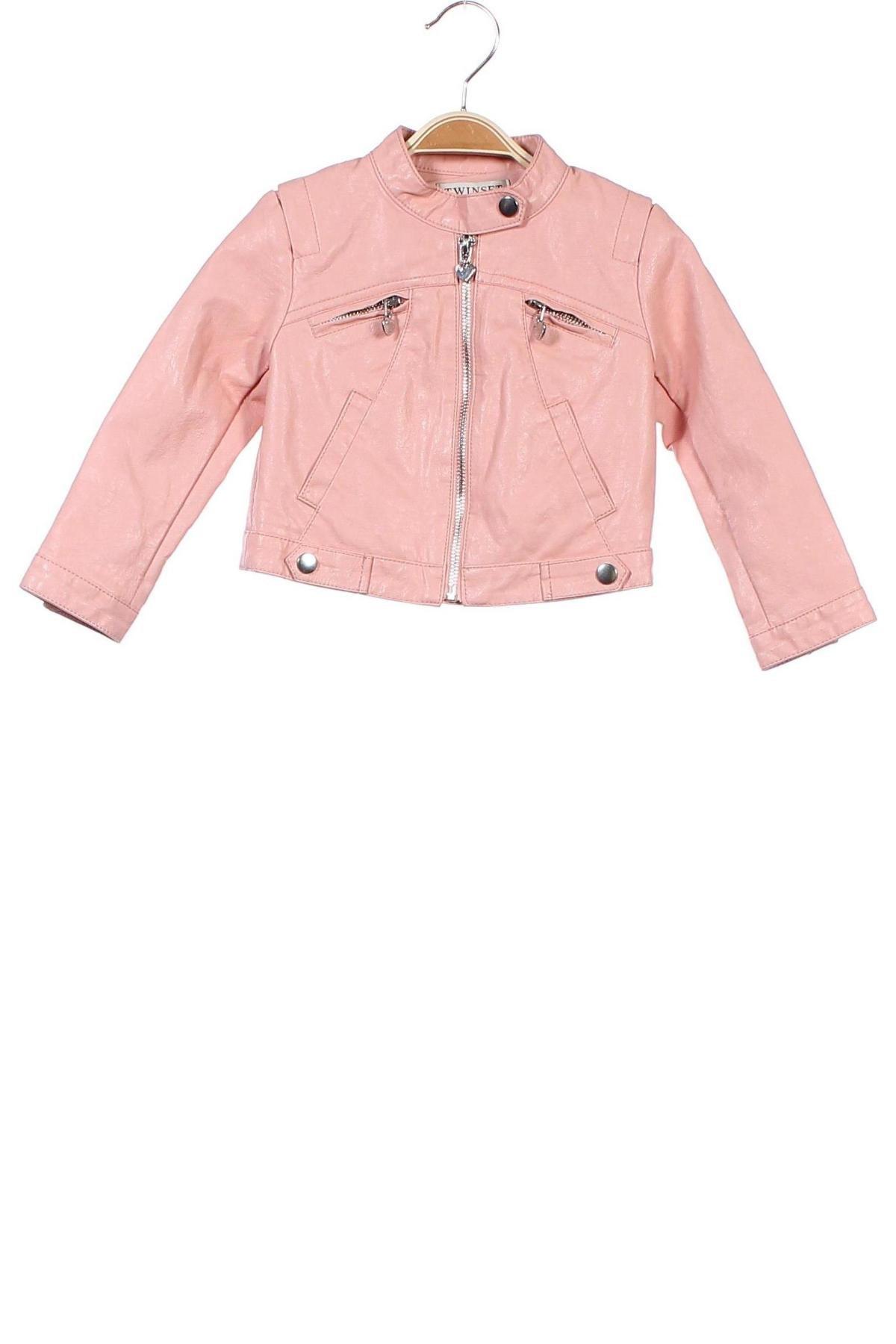 Παιδικό δερμάτινο μπουφάν TWINSET, Μέγεθος 18-24m/ 86-98 εκ., Χρώμα Ρόζ , Δερματίνη, Τιμή 32,29€