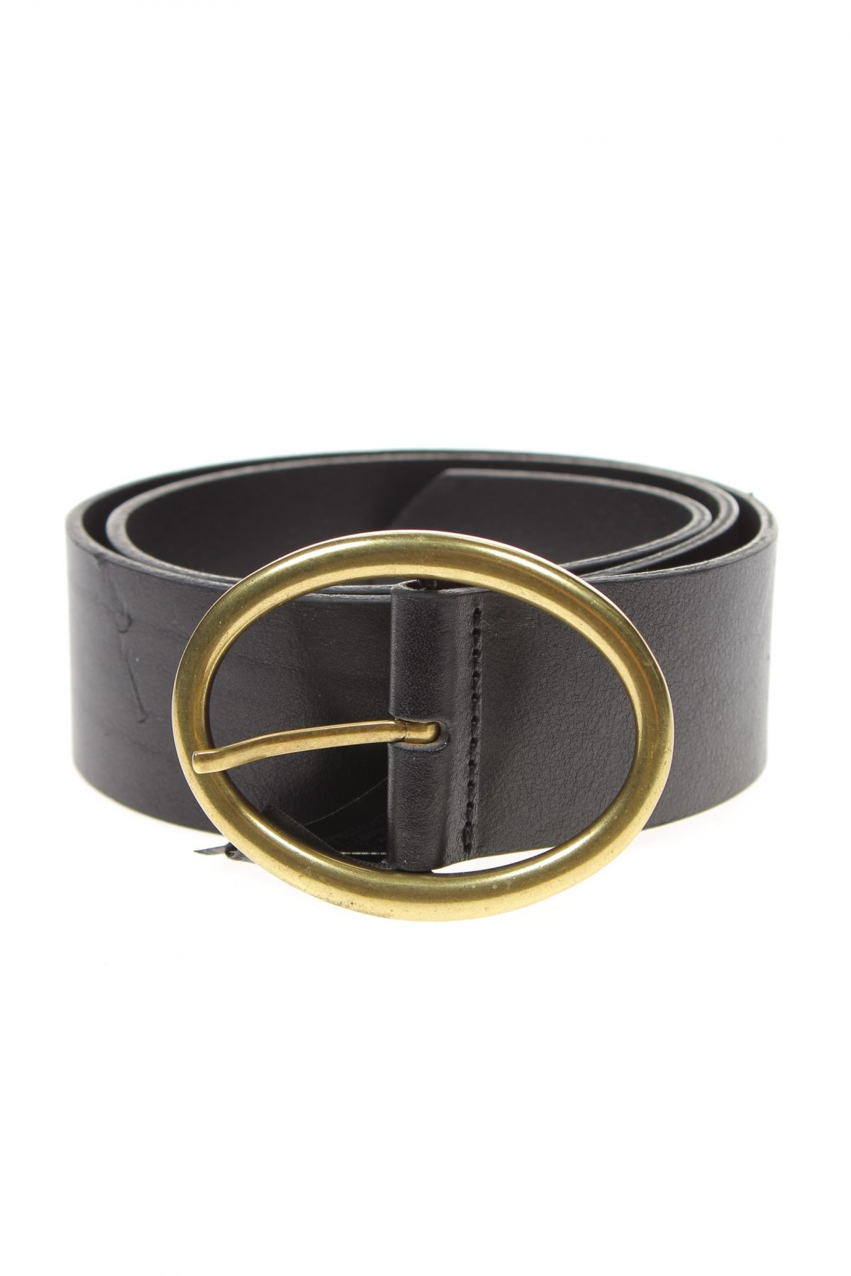 Ζώνη Massimo Dutti, Χρώμα Μαύρο, Γνήσιο δέρμα, Τιμή 10,68€