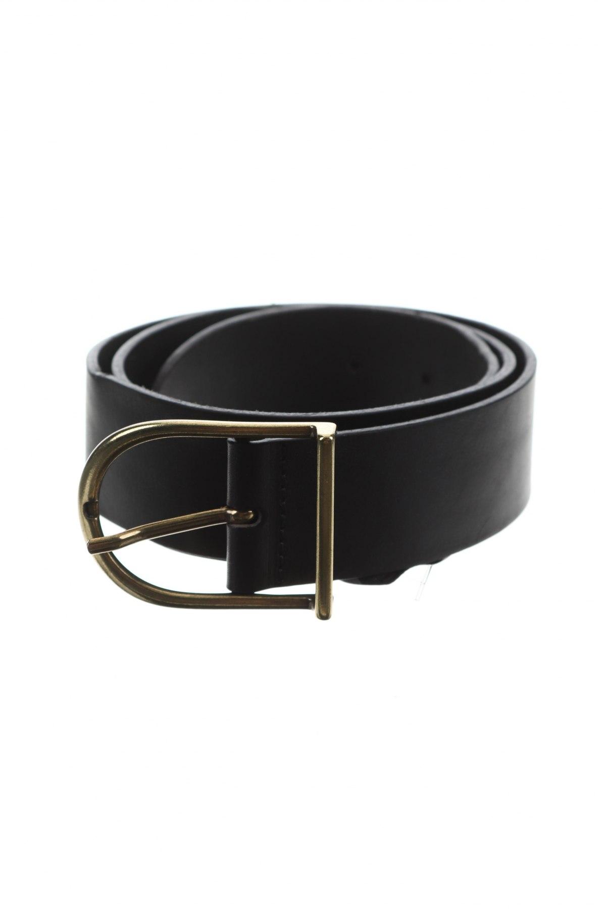 Ζώνη Massimo Dutti, Χρώμα Μαύρο, Γνήσιο δέρμα, Τιμή 27,83€