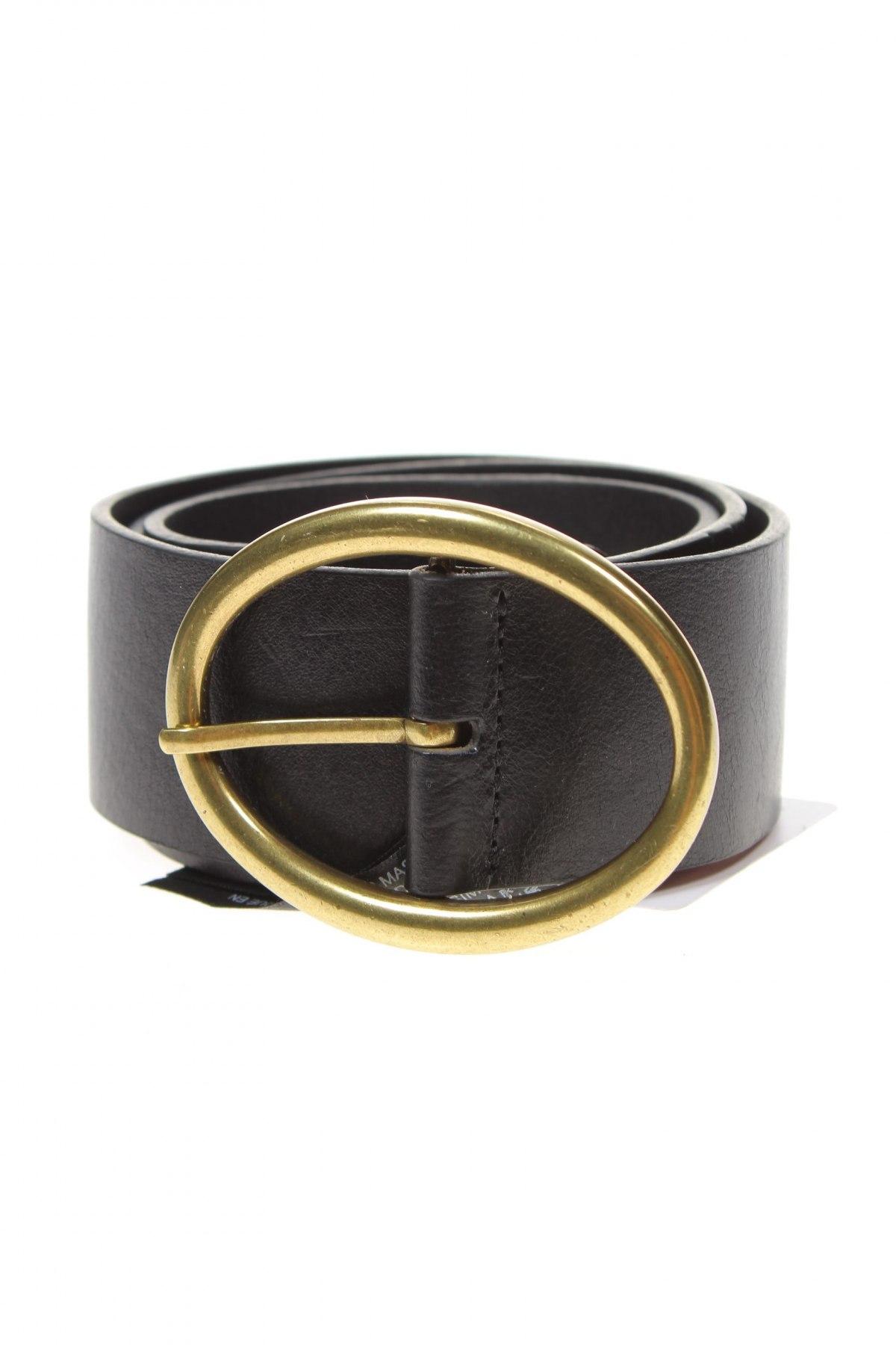 Ζώνη Massimo Dutti, Χρώμα Μαύρο, Γνήσιο δέρμα, Τιμή 24,74€